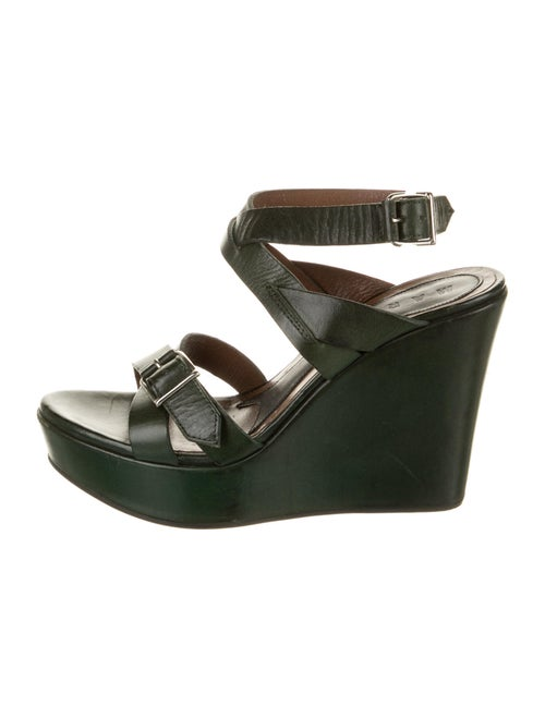 Marni Leather Sandals Green