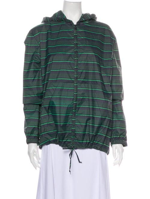 Marni Striped Performance Jacket Green