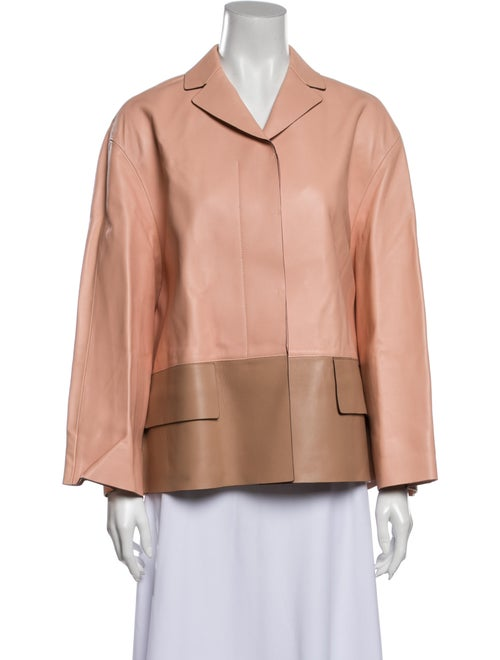 Marni Lamb Leather Jacket Pink
