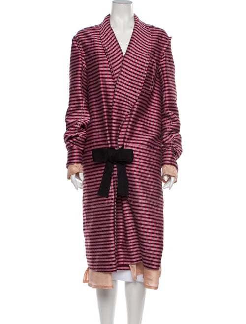 Marni Striped Coat Pink