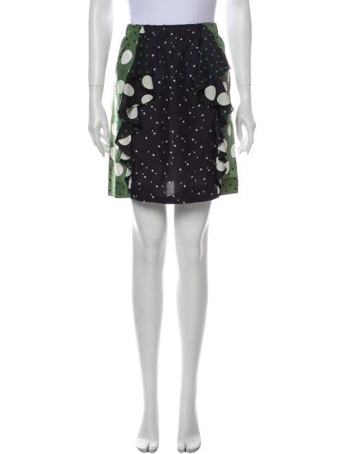 Marni Printed Mini Skirt Green