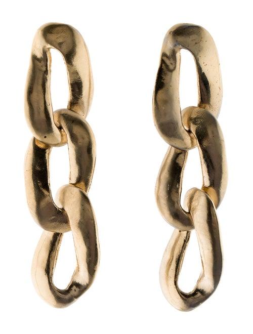 Marni Metallo Chain Link Drop Earrings Gold