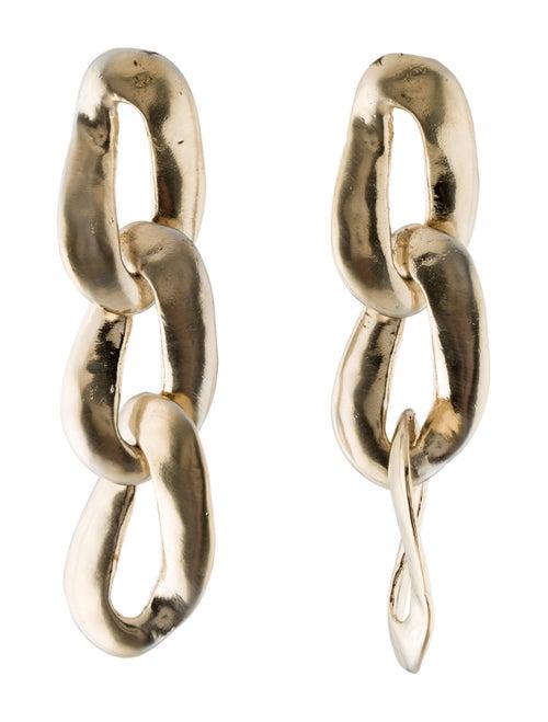 Marni Chain Link Drop Earrings Gold