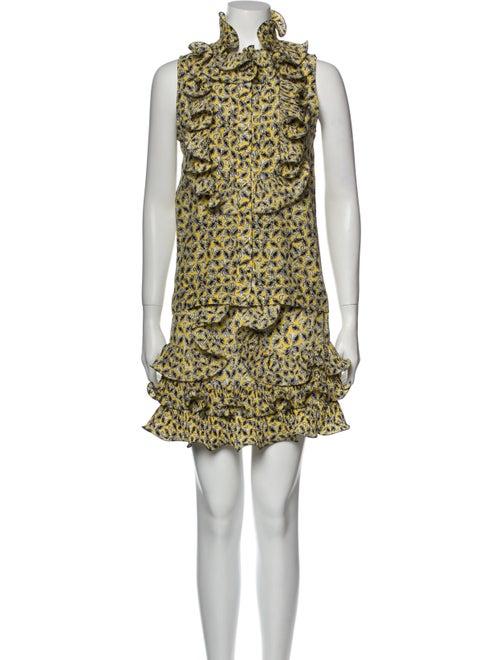 Marni 2013 Silk Skirt Set Yellow