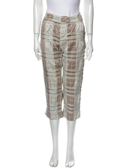 Marni Plaid Print Straight Leg Pants