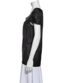 Marni V-Neck Short Sleeve Blouse
