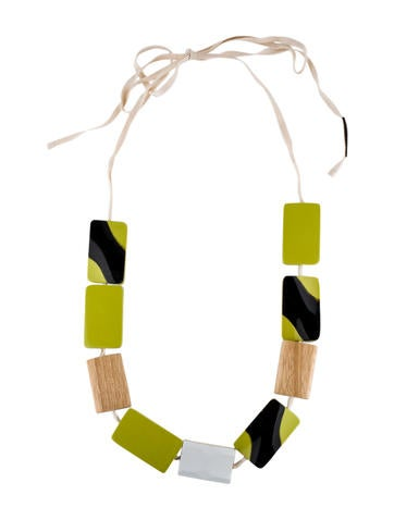 Block Resin Necklace