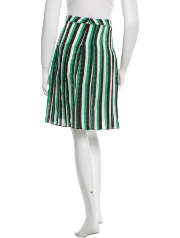 marni striped pleated skirt clothing man37109 the