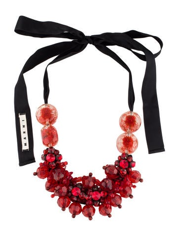 Crystal and Paillette Necklace