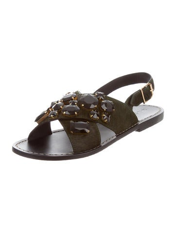 Marni Embellished Slingback Sandals w/ Tags free shipping find great FCrFrco2