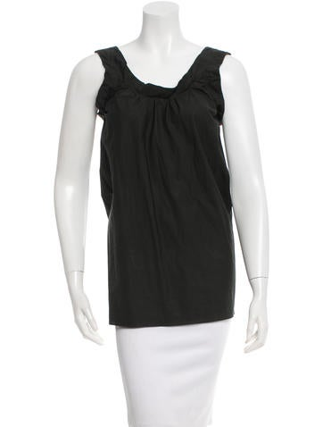 Marni Plunging-Back Sleeveless Top None