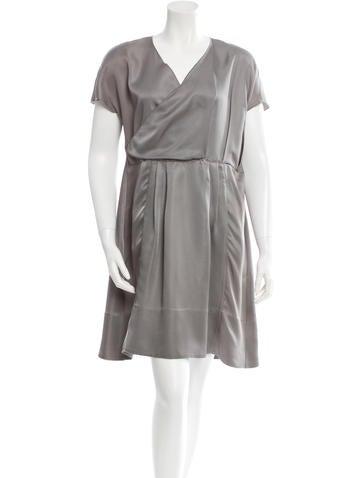 Marni Pleated Satin Dress