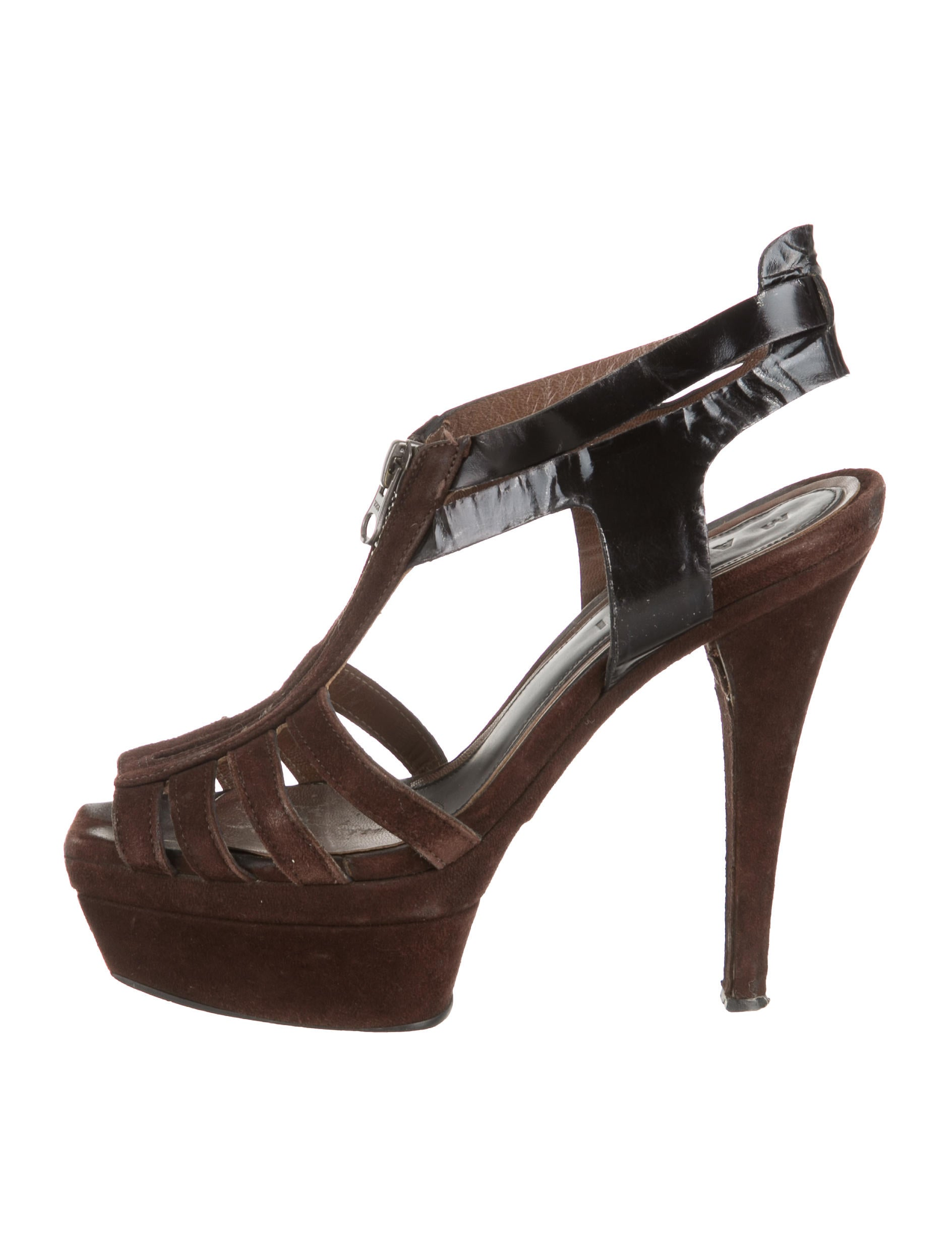 marni suede platform sandals shoes man40398 the realreal
