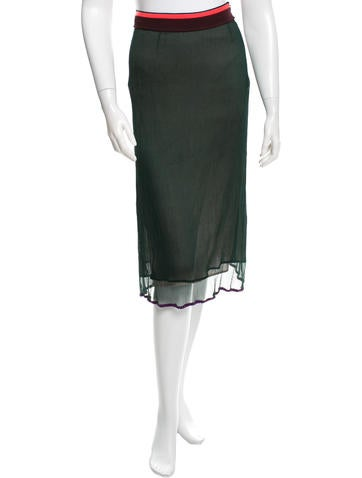 Marni Silk Midi Skirt None