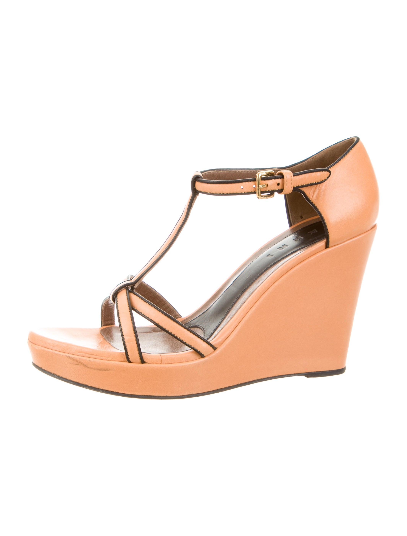 marni leather platform wedge sandals shoes man41133