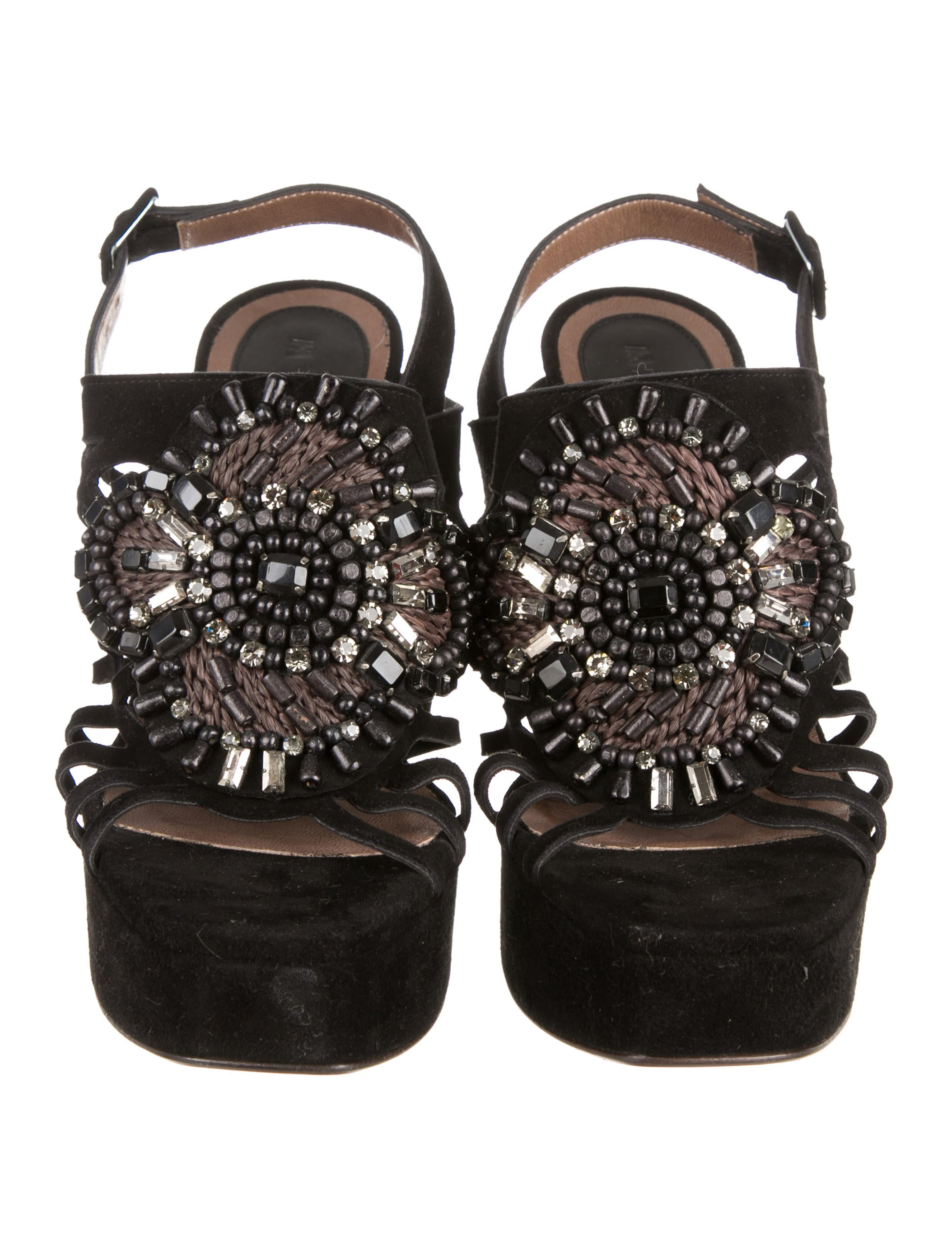 newest cheap online eastbay cheap price Marni Jewel-Embellished Platform Sandals free shipping enjoy HU7lo2txkW