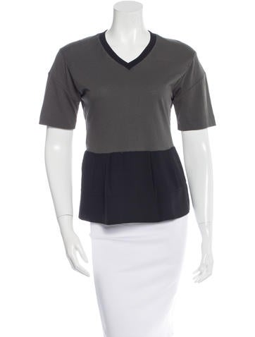 Marni Colorblock Short Sleeve Top None