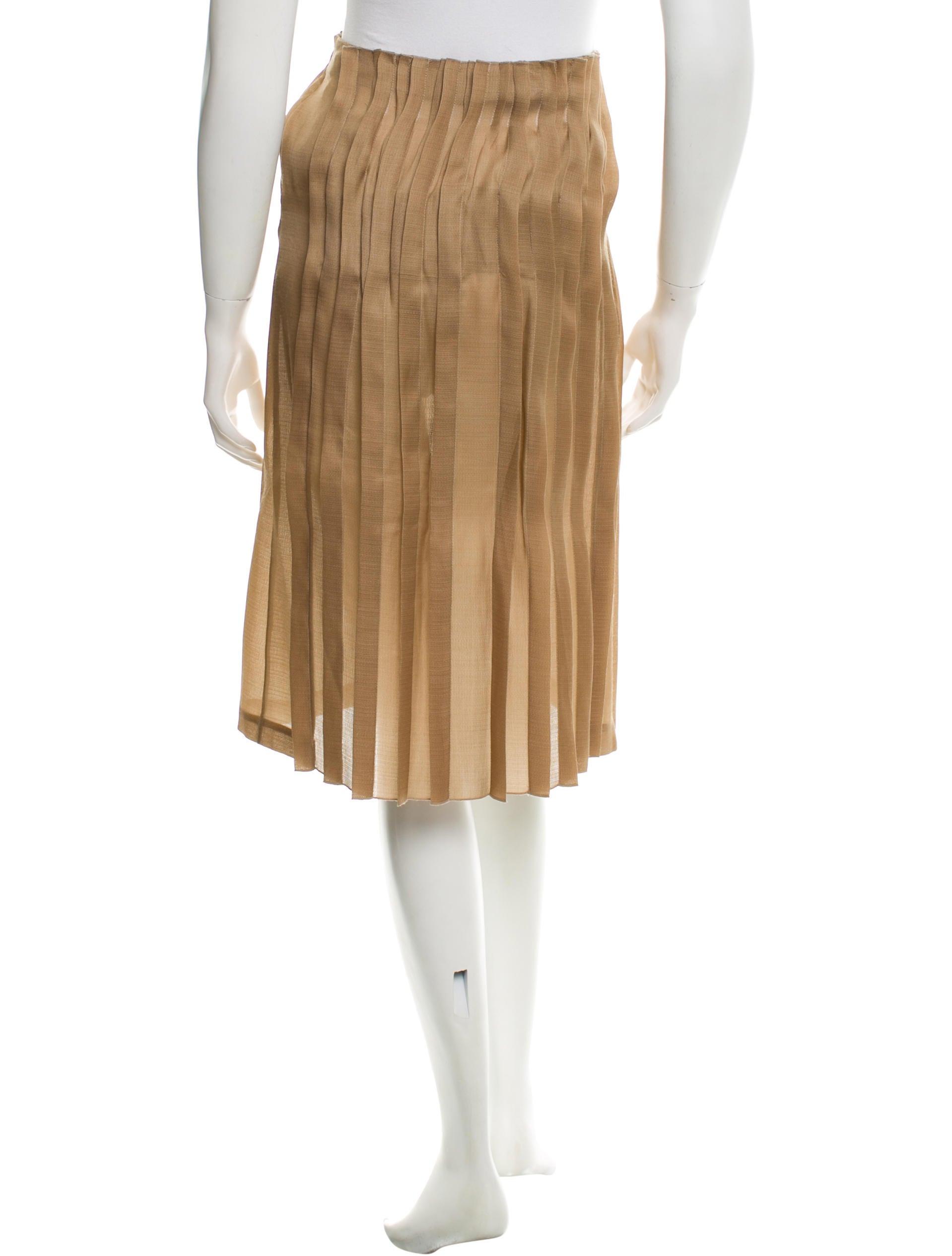 marni pleated silk skirt clothing man43000 the realreal