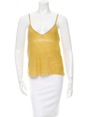 Marni Sleeveless Cashmere Top None