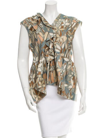 Marni Printed Silk Top w/ Tags None