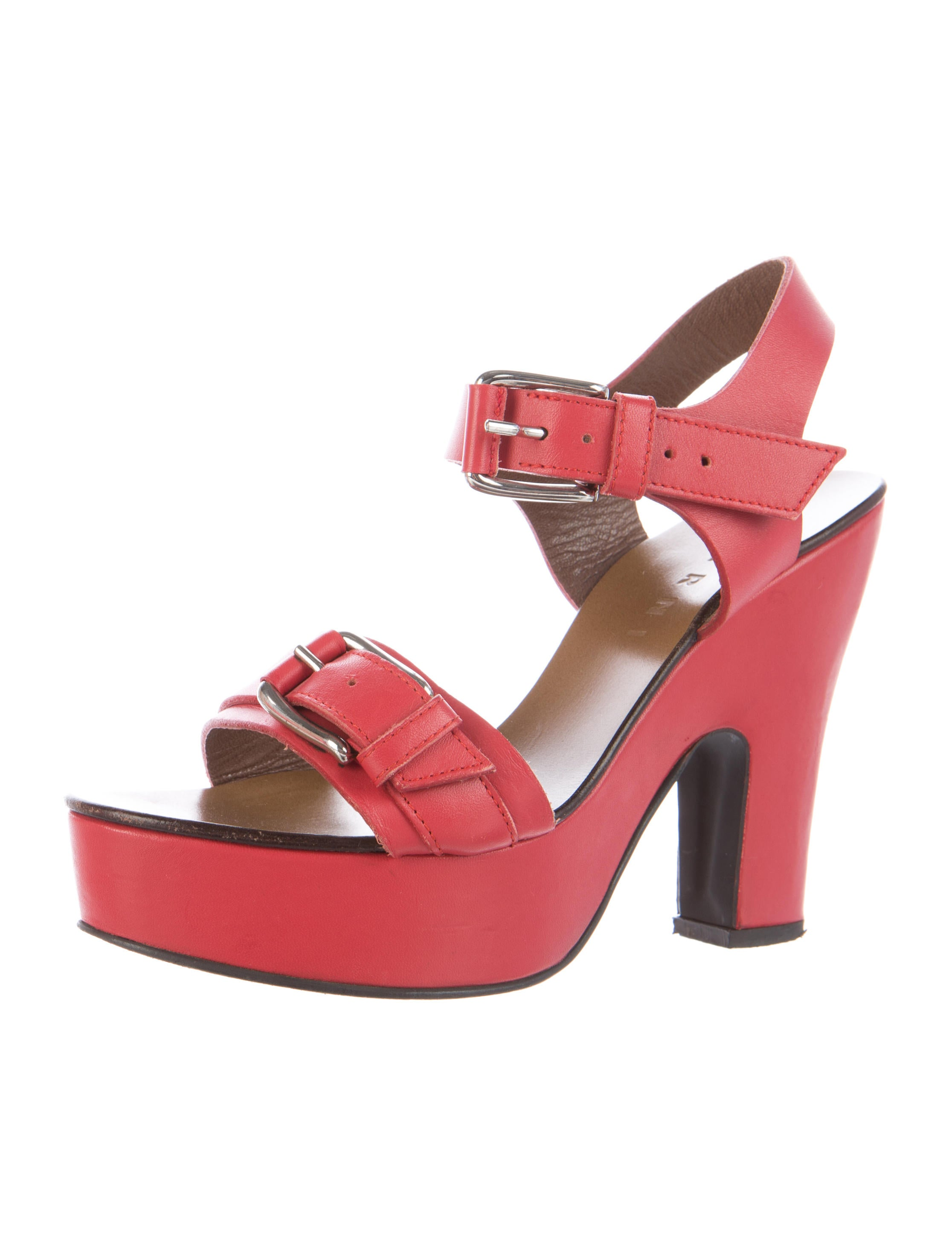 marni leather platform sandals shoes man44257 the