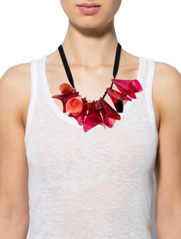 Lacquered Horn Necklace