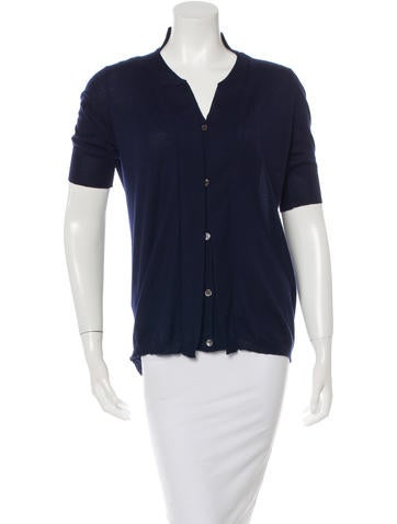 Marni Cashmere Short Sleeve Cardigan None