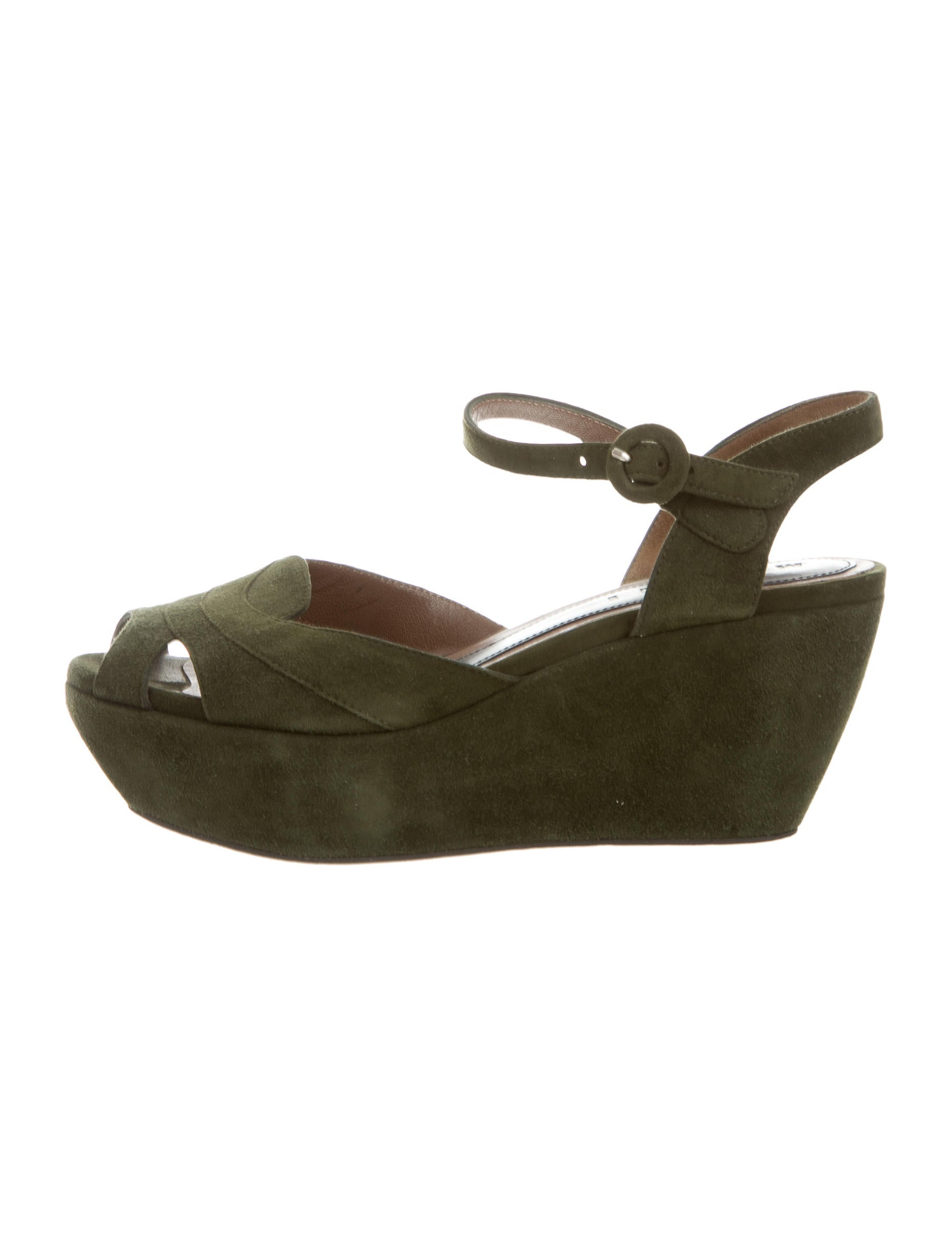 marni suede wedge sandals shoes man44877 the realreal