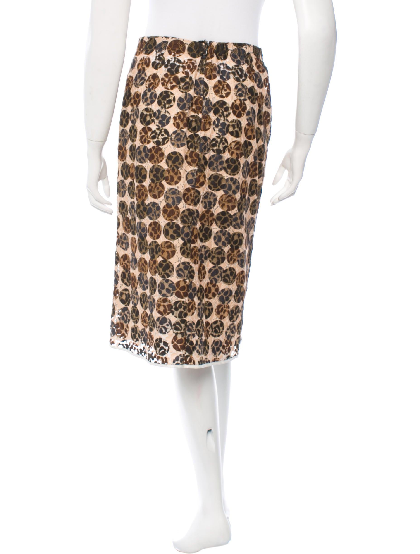 marni knee length lace skirt clothing man45113 the