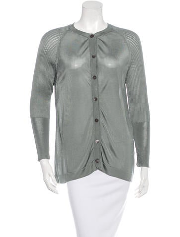 Marni Rib Knit Raglan Sleeve Cardigan None