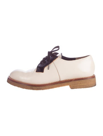 Marni Patent Leather Round-Toe Oxfords