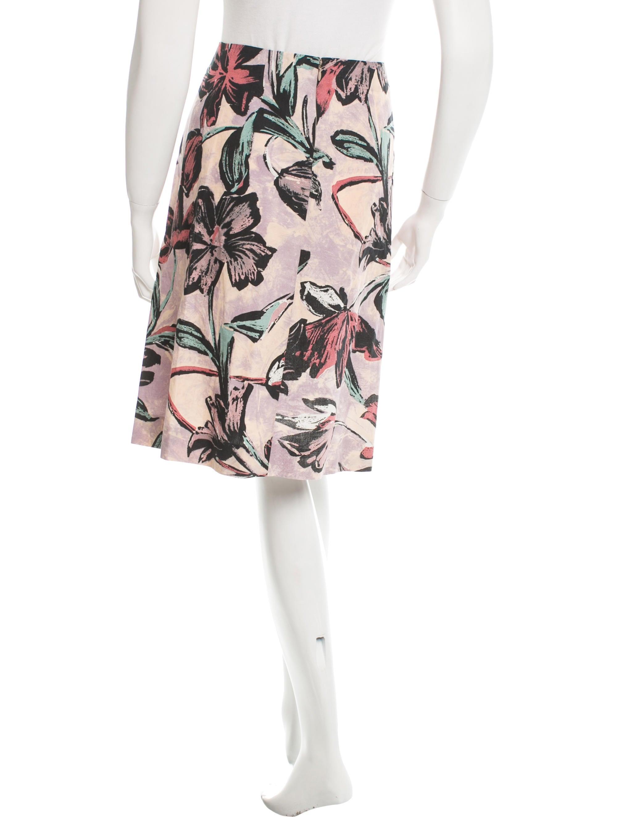 marni floral knee length skirt clothing man45987 the