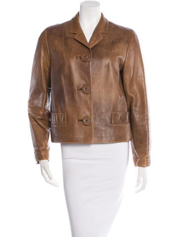 Marni Notched Leather Jacket None