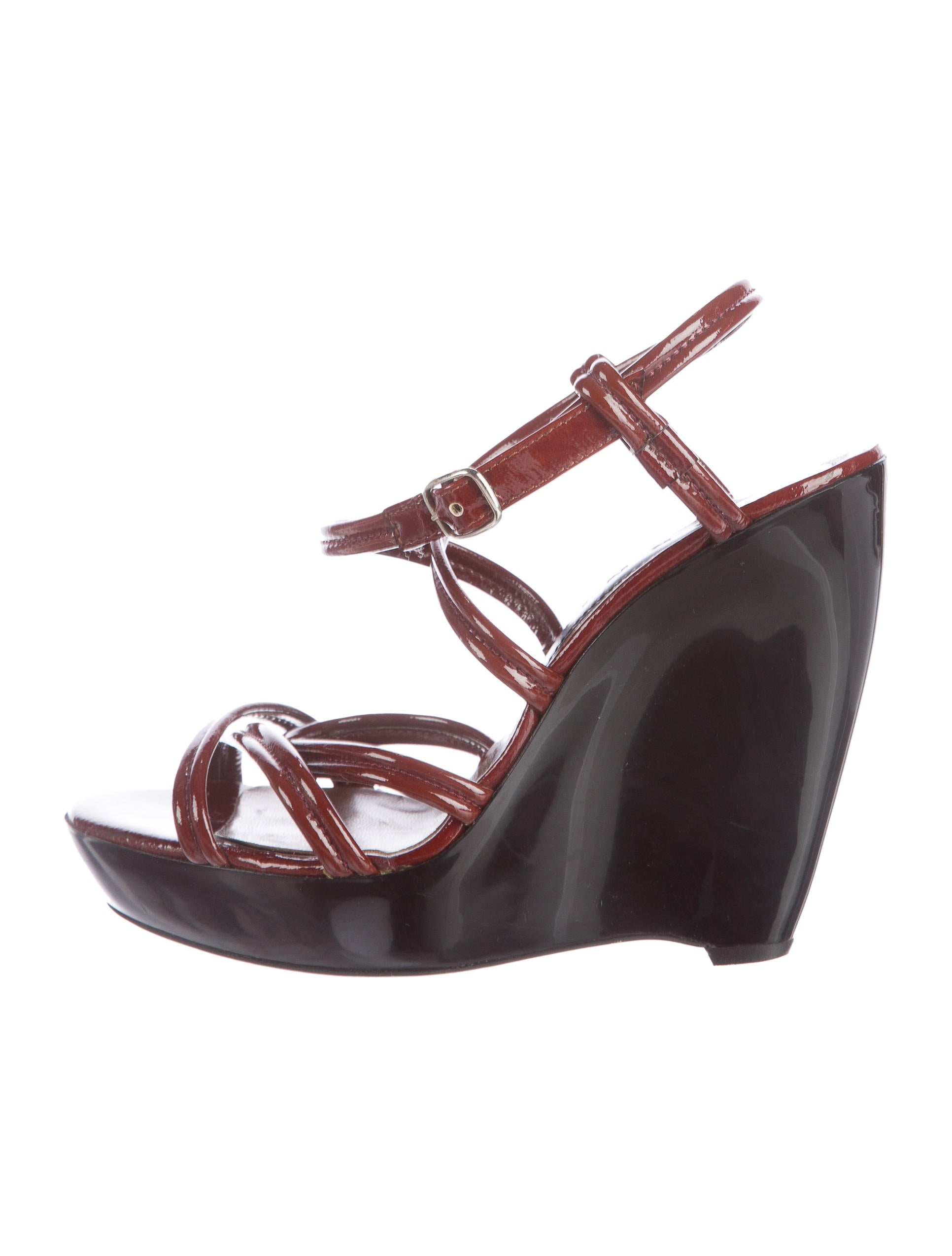 marni patent wedge sandals shoes man46663 the realreal