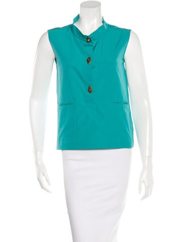 Marni Sleeveless Button-Up Top None
