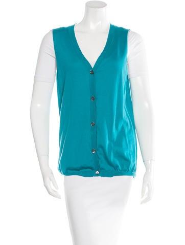 Marni V-Neck Knit Vest None