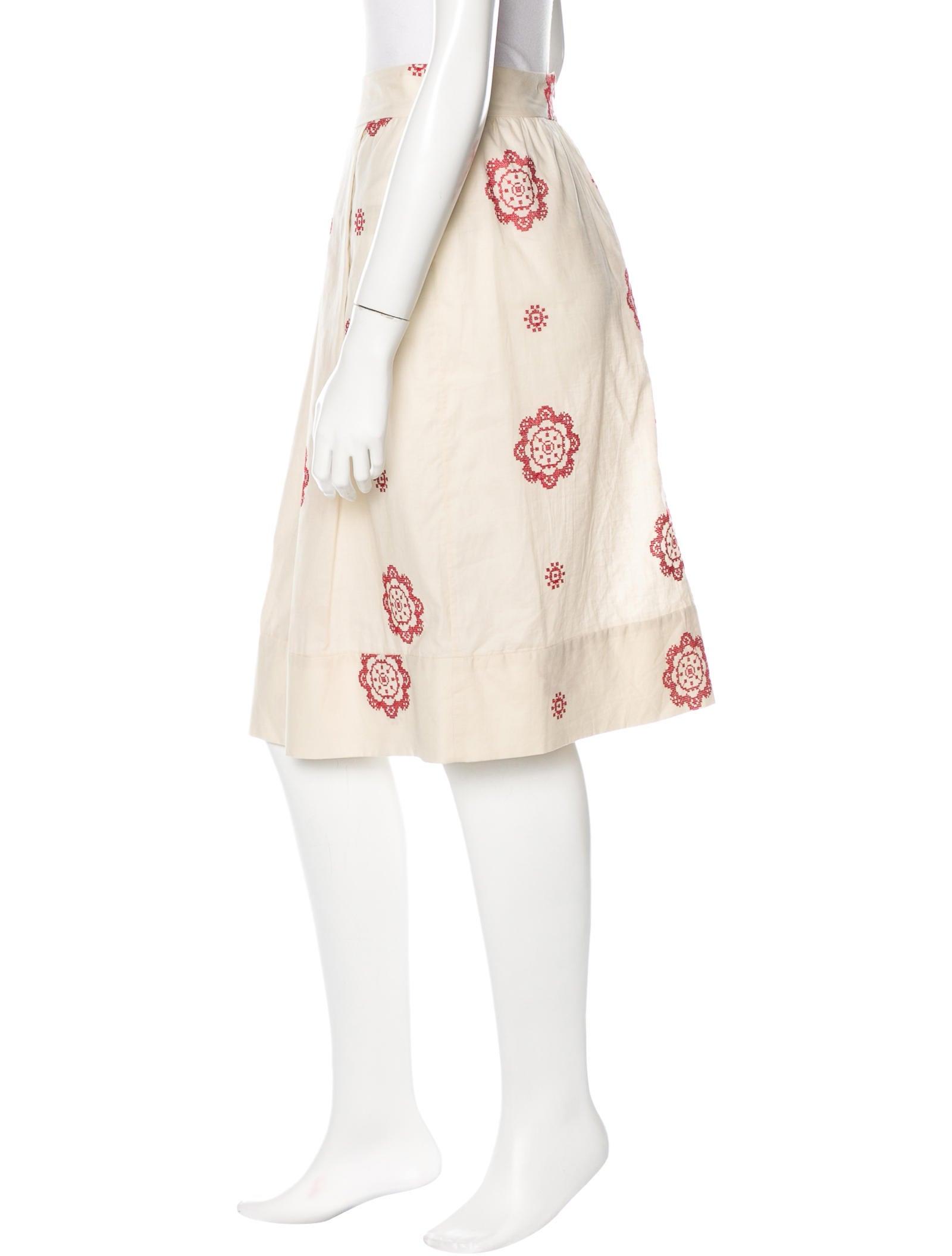 marni embroidered midi skirt clothing man47865 the