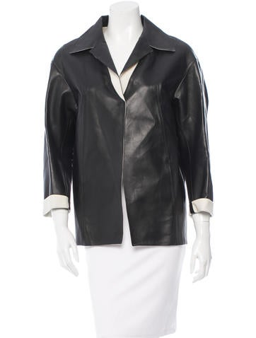 Marni Leather Fitted Jacket