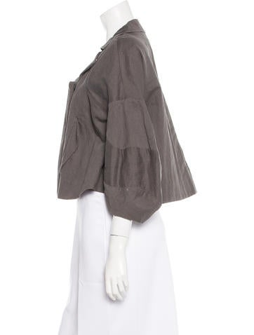 Cropped Notch-Lapel Jacket