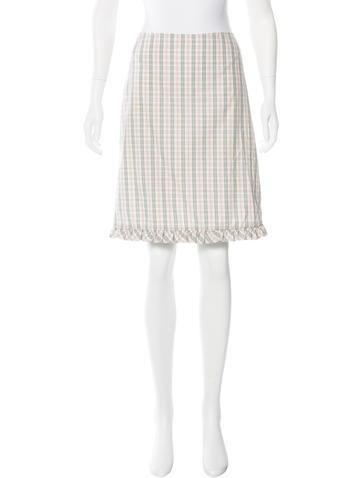 marni plaid knee length skirt w tags clothing