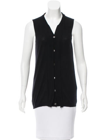 Marni Cashmere Button-Up Top None