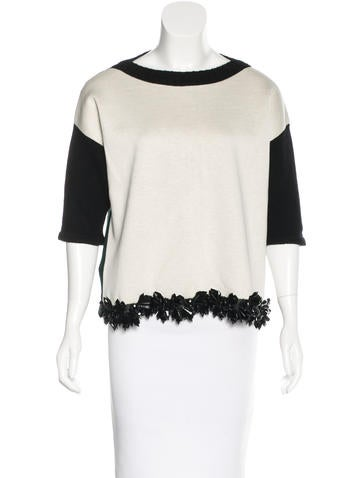 Marni Cashmere Embellished Sweater None