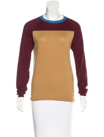 Marni Colorblock Rib Knit Top None