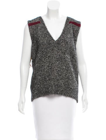 Marni Feather-Trimmed Wool Sweater None