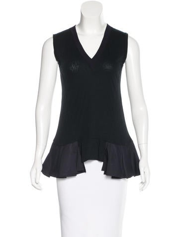 Marni Pleated Knit Top None