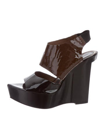 Marni Patent Leather Platform Wedges None