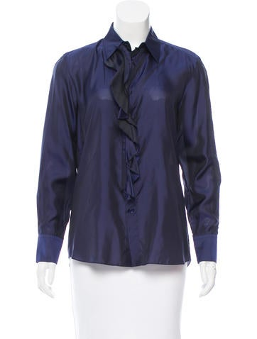 Marni Iridescent Button-Up Top None
