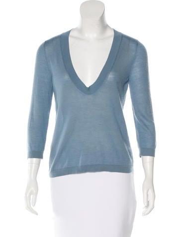 Marni Cashmere Three-Quarter Sleeve Sweater None