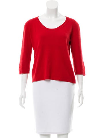 Marni Scoop Neck Cashmere Sweater None