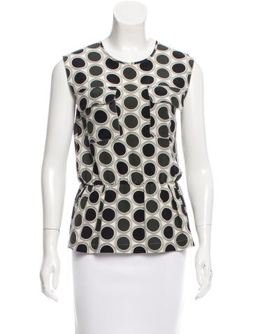 Marni Silk Polka Dot Print Top None